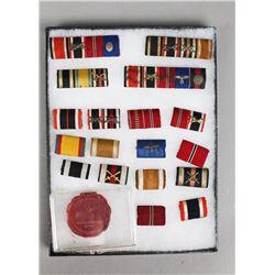 WWII German Campaign Bars & Wax Seal