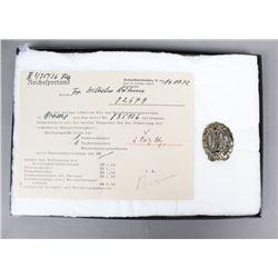 WWII German Bronze Sports Badge
