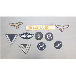 WWII Luftwaffe Assorted Badges, Cuffs, & Patches