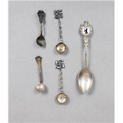German & American Souvenir Spoons & Pin