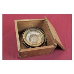 WWII Japanese Naval Compass In Original Crate