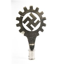 WWII Nazi German Labor Front Flagpole Topper