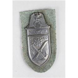 WWII German Narvik Shield