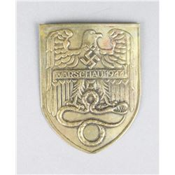 WWII 1944 Warschau Shield/Award