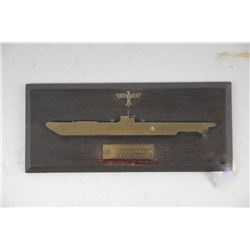 WWII Nazi U-Boat Plaque & Documentation