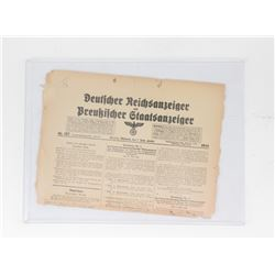 Early Berlin Newspaper