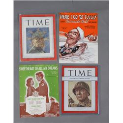 WWII Time Magazines & Sheet Music