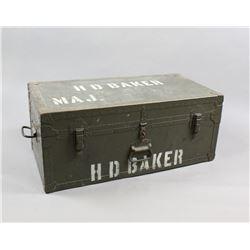 WWII Military Footlocker