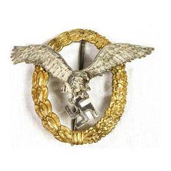 WWII Luftwaffe Pilot & Observer Badge C.E. Juncker