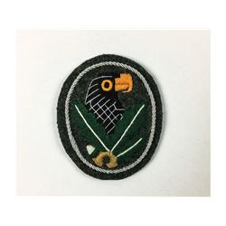 WWII German Snipers Sleeve Patch Silver Grade