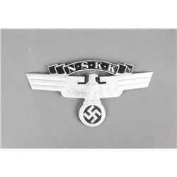 Nazi NSKK Eagle and Swastika Cap Pin
