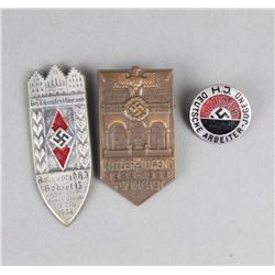 Lot of 3 WWII German Badges