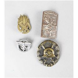 WWII Tinnies/Badges (4)