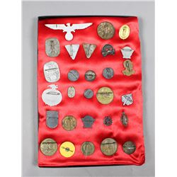 WWII German Rally/Donation Pins, Badges, Etc. (28)