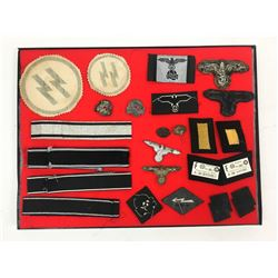 WWII SS/Nazi Cuff, Patches & Pins