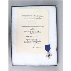 WWII German True Service Award