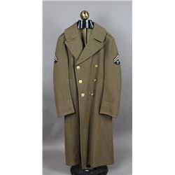 WWII US Army Overcoat w/ Tech Stripes