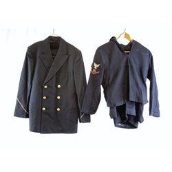 2 US Navy Uniform Shirt, Jacket