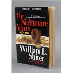The Nightmare Years 1930-1940 by W Shirer Book