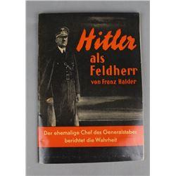 Hilter Als Feldherr by Von Franz Halder Book