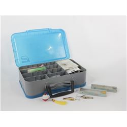 Tackle Box w/ Lures, Hooks, Jigs