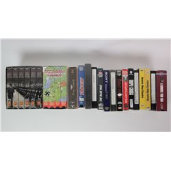 WWII VHS Movie Box Lot