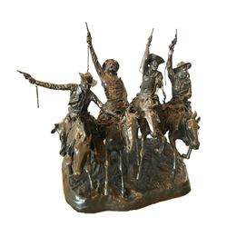 """Frederic Remington Statue """"Coming Through the Rye"""""""