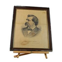 Print Kurz & Allison Civil War General Logan