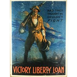 """WWI """"And They Thought We Couldn't Fight"""" Poster"""