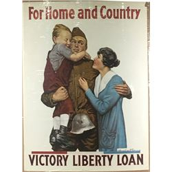 "WWI ""For Home and Country"" Poster"