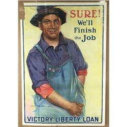 """WWI """"Sure! We'll Finish the Job"""" Poster"""