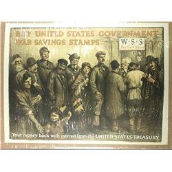 WWI War Savings Stamps Poster