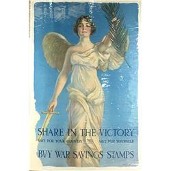"""WWI """"Buy War Savings Stamps"""" Poster"""