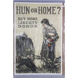 """WWI """"Hun or Home?"""" Poster"""