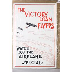 """WWI """"The Victory Loan Flyers"""" Poster"""