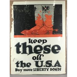 """WWI """"Keep These off the USA"""" Poster"""