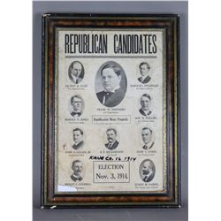 1914 Republican Candidates Poster