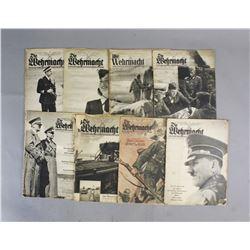 Lot Of Nine Die Wehrmacht Magazines