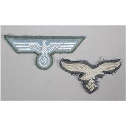 WWII Nazi Uniform Eagle Patches