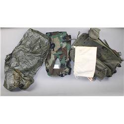 US Military Raincoat, Uniform, & Backpack