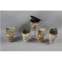 Lot of 5 US Military Hats