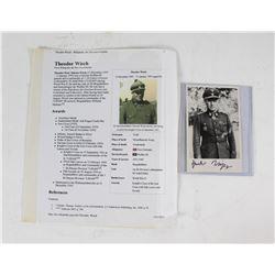 WWII Nazi Theodor Wisch Signed Photo
