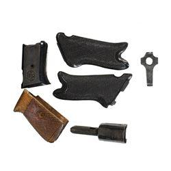 3 Sets WWII German Pistol Grips Luger, Etc