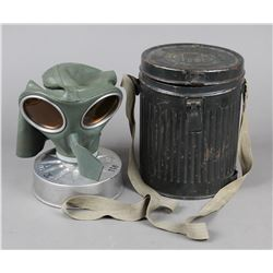WWII German Gas Mask and Container