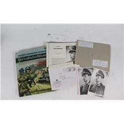 WWII Nazi Horst Niemack Signed Photo and Book
