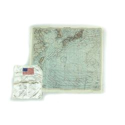 WWII Sea Map And Gulf War Blood Chit