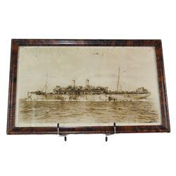 WWI Framed USS Mercury Ship Photo