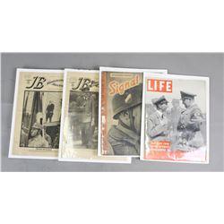 Lot of 4 WWII Nazi Magazines