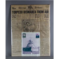 WWII Autographed Photo and Newspaper