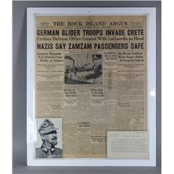 WWII Newspaper and Note